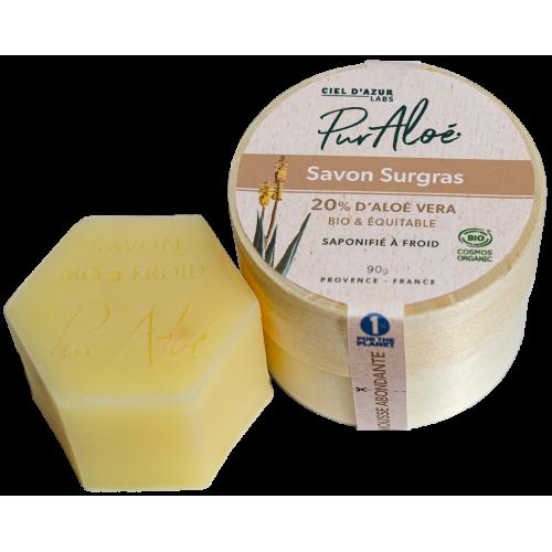 Pur'Aloé Savon saponifié à froid - 20% Aloé Vera Natif - 90g